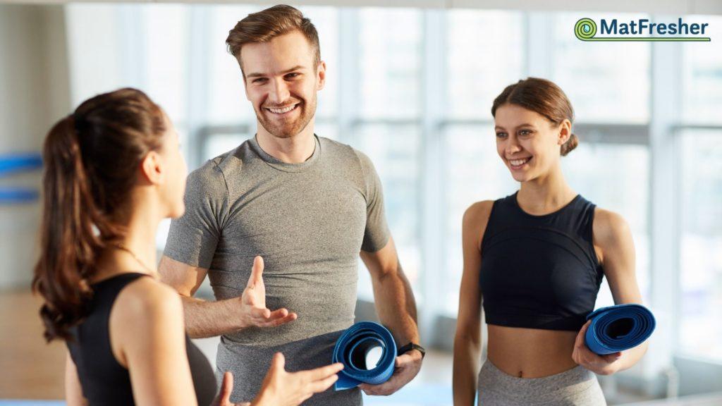 clean yoga mats = happy students